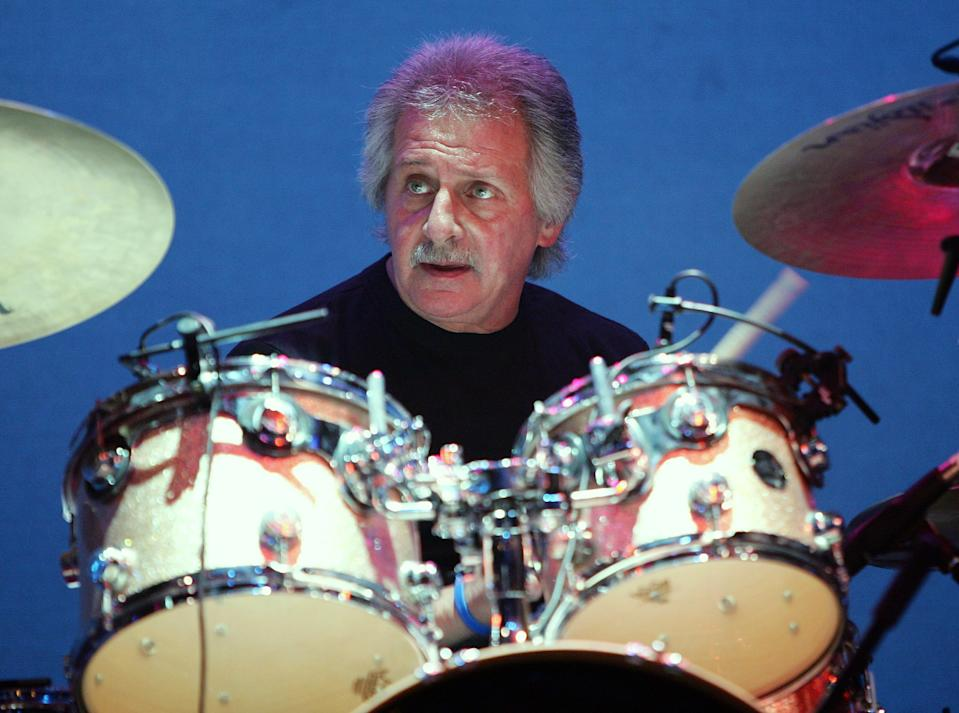Original drummer for The Beatles, Pete Best performs with The Pete Best Band at the Fest for Beatles Fans 2007 at The Mirage Hotel & Casino July 1, 2007 in Las Vegas, Nevada.  (Photo by Ethan Miller/Getty Images)