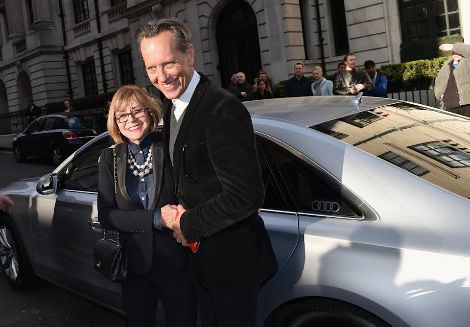 LONDON, ENGLAND - MARCH 20:  Joan Washington and Richard E. Grant attend the Jameson Empire Awards 2016 at The Grosvenor House Hotel on March 20, 2016 in London, England.  (Photo by Gareth Cattermole/Getty Images)