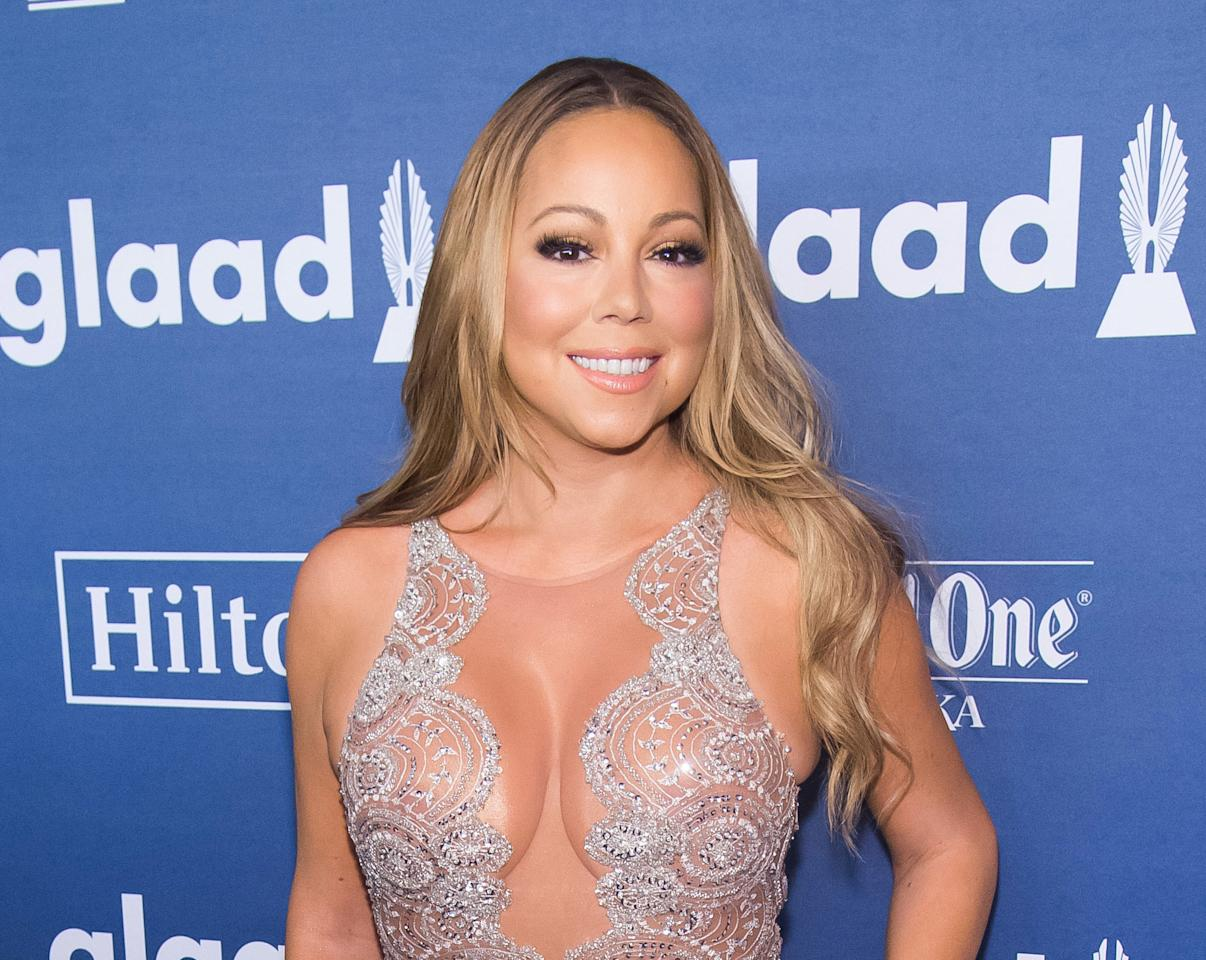"""FILE - In this May 14, 2016 file photo, Mariah Carey attends the 27th Annual GLAAD Media Awards, in New York. Carey will appear on the Oct. 5 episode of the Fox series, """"Empire,"""" the network confirmed Monday at a TV critics bi-annual press tour. (Photo by Charles Sykes/Invision/AP, File)"""