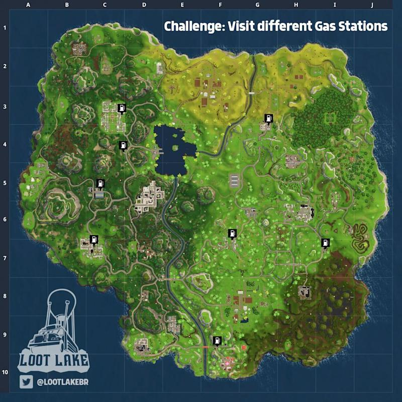 'Fortnite' Gas Stations map