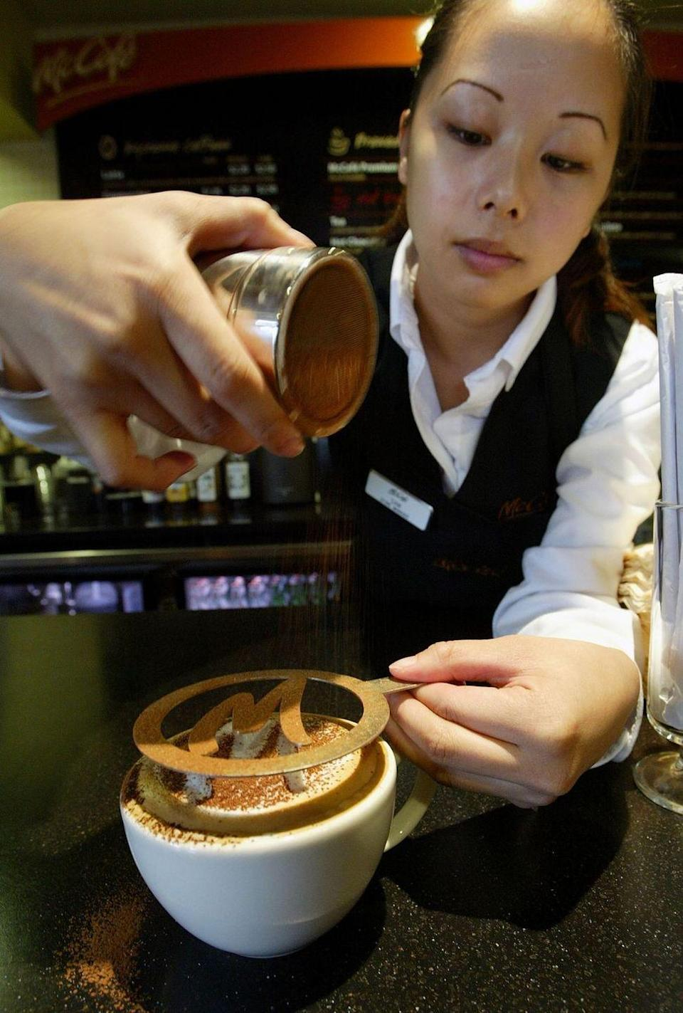 <p>In an effort to compete with Starbucks, McDonald's began testing out a McCafé concept—complete with all of the essentials of a coffeehouse. </p>