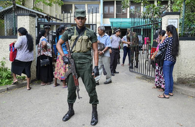 Extra troops and police have been deployed to Negombo and a curfew is in effect