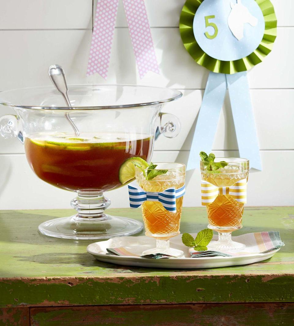 "<p>Dust off the punch bowl and stir up a Derby cocktail with bourbon, club soda, orange curacao, sweet vermouth, lime juice, and orange bitters.</p><p><strong><a href=""https://www.countryliving.com/food-drinks/a32042835/bourbon-derby-punch/"" rel=""nofollow noopener"" target=""_blank"" data-ylk=""slk:Get the recipe"" class=""link rapid-noclick-resp"">Get the recipe</a>.</strong></p>"