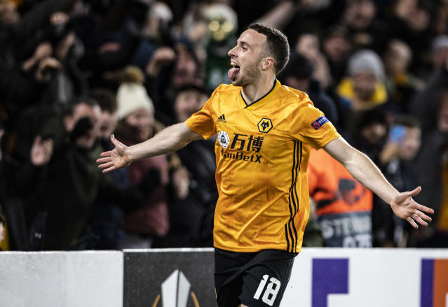 Diogo Jota's hat-trick sees Wolves breeze past Besiktas in the Europa Leage. (Getty Images)