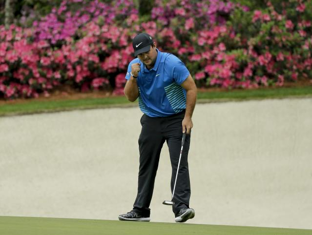 "<a class=""link rapid-noclick-resp"" href=""/ncaaf/players/244960/"" data-ylk=""slk:Patrick Reed"">Patrick Reed</a> is loving life now, but will he win a green jacket? (AP)"