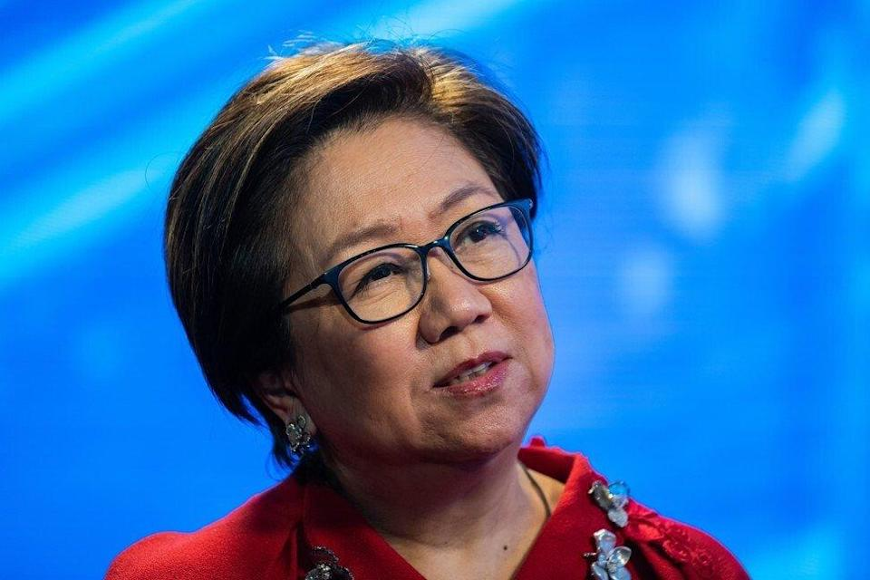 Laura Cha, chairperson of Hong Kong Exchanges & Clearing Ltd. (HKEX), during a Bloomberg Television interview in Hong Kong, on Wednesday, June 10, 2020. Photo: Bloomberg