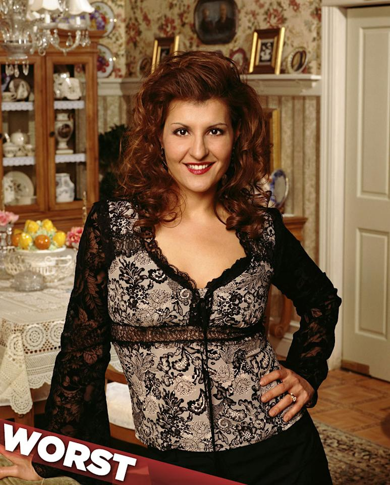 """""""<a href=""""/my-big-fat-greek-life/show/28178"""">My Big Fat Greek Life</a>"""" — With its warm depiction of a wacky Greek family, Nia Vardalos's surprise 2002 box-office hit, """"My Big Fat Greek Wedding,"""" seemed like the perfect candidate to transition into a sitcom. CBS thought so, too, and brought Nia and her entire cast (minus John Corbett) to TV the following year. But somehow the film's charm got lost in translation, and """"Life"""" only managed to live for seven episodes."""