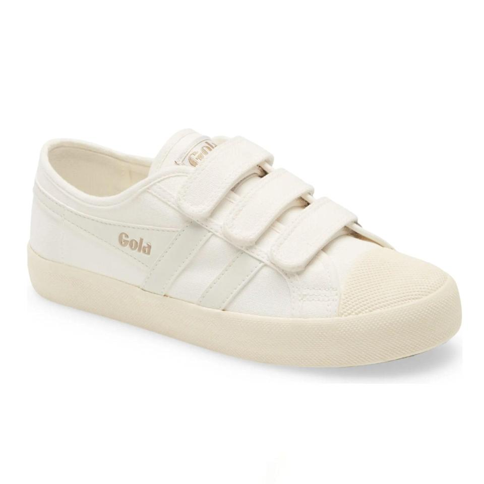 """British sporting brand Gola may have built a legacy on its iconic football trainers, but we can't get enough of these everyday Velcro shoes. They make us feel like kids in the best way, and the straps are actually super practical. They're sturdy and secure yet easy to remove, making them perfect for beach and park days when you may want to #freethetoes. $65, Nordstrom. <a href=""""https://www.nordstrom.com/s/gola-coaster-low-top-sneaker-women/4900775"""" rel=""""nofollow noopener"""" target=""""_blank"""" data-ylk=""""slk:Get it now!"""" class=""""link rapid-noclick-resp"""">Get it now!</a>"""
