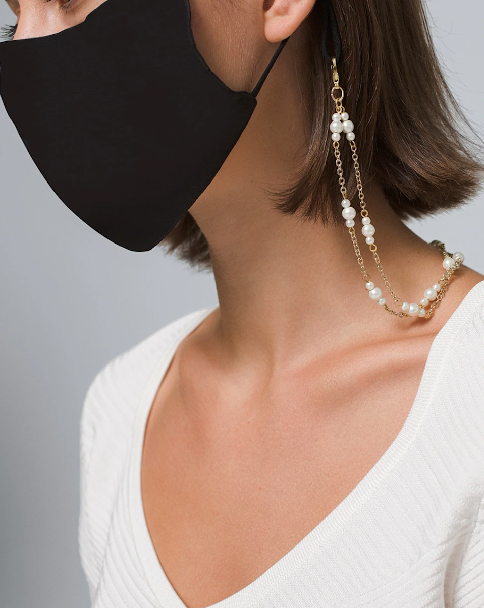 """<br><br><strong>WHBM</strong> Convertible Mask Necklace, $, available at <a href=""""https://go.skimresources.com/?id=30283X879131&url=https%3A%2F%2Fwww.whitehouseblackmarket.com%2Fstore%2Fproduct%2Fthe%2Bwhbm%2Bconvertible%2Bmask%2Bnecklace%2F570298981"""" rel=""""nofollow noopener"""" target=""""_blank"""" data-ylk=""""slk:White House 