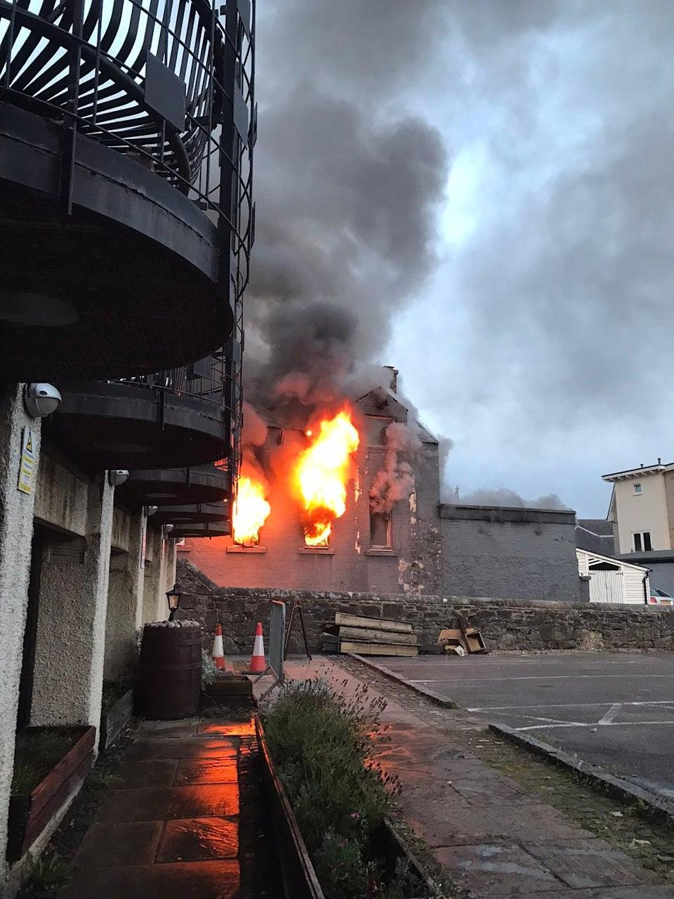 The fire broke out on Saturday evening (Kim Bradley/Twitter/PA)