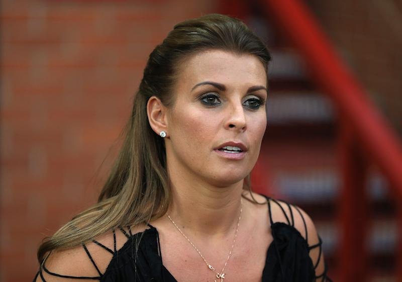 Coleen Rooney, wife of Manchester United's Wayne Rooney before the game.