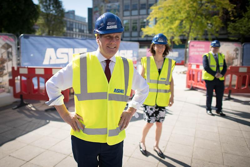 <strong>Keir Starmer and shadow chancellor Anneliese Dodds during a visit to the town centre regeneration project in Stevenage, Hertfordshire.</strong> (Photo: PA)