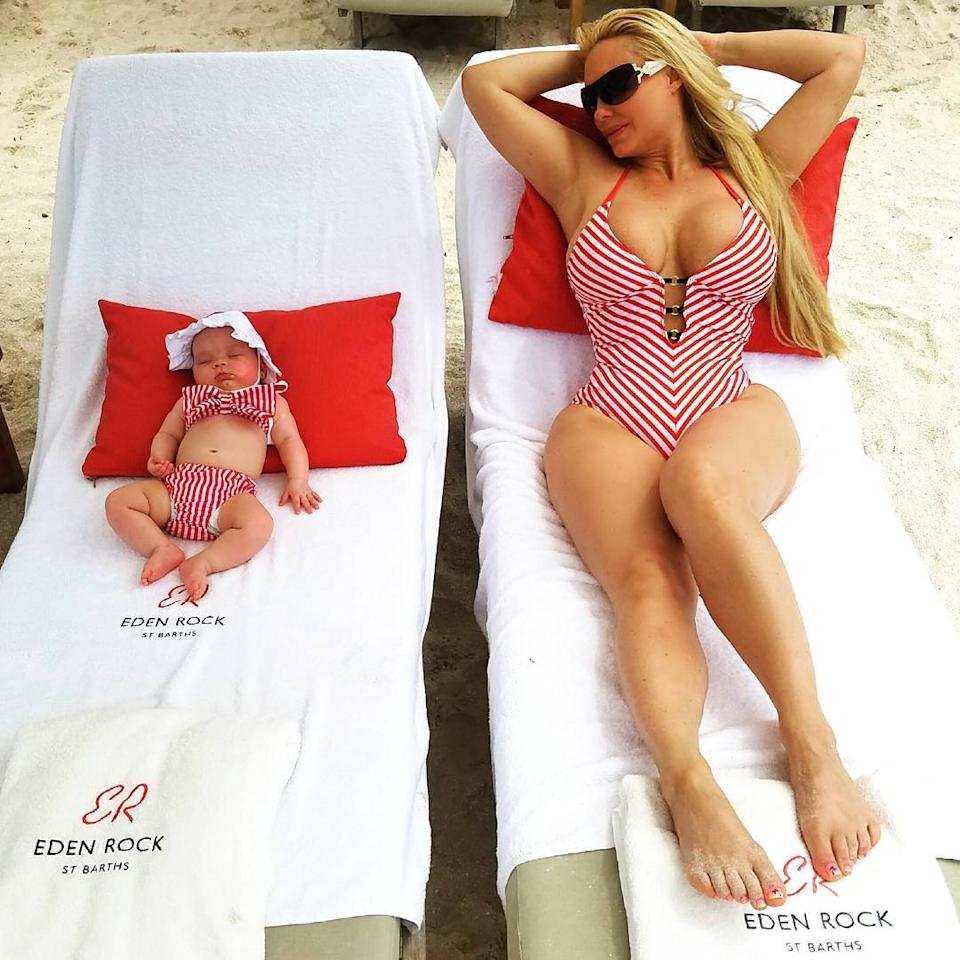 9cc54925a8 All the Times Coco Austin and Baby Chanel Wore Matching Bathing Suits