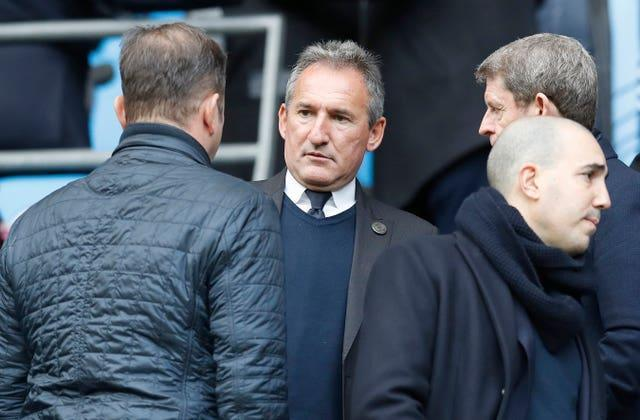 Manchester City's director of football Txiki Begiristain in the crowd