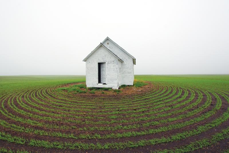 "This photo provided by Terry Hinnenkamp shows an abandoned one-room school house in Clear Lake Township in Kidder County, N.D., featured in the book ""Ghosts of North Dakota Volume 2."" (AP Photo/Terry Hinnenkamp)"