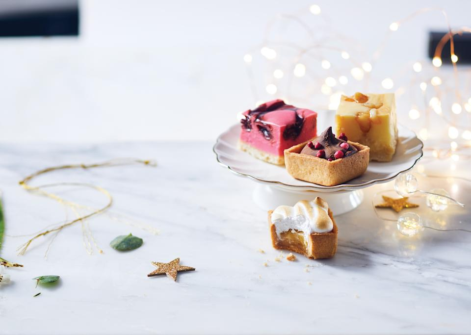 mini christmas desserts from Woolworths