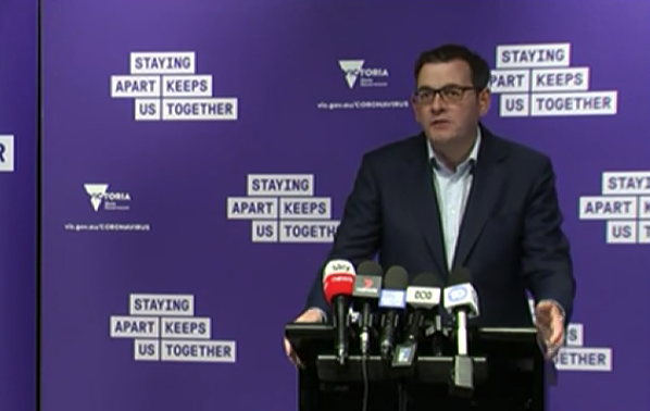 Daniel Andrews addressed media on Monday morning. Source: ABC