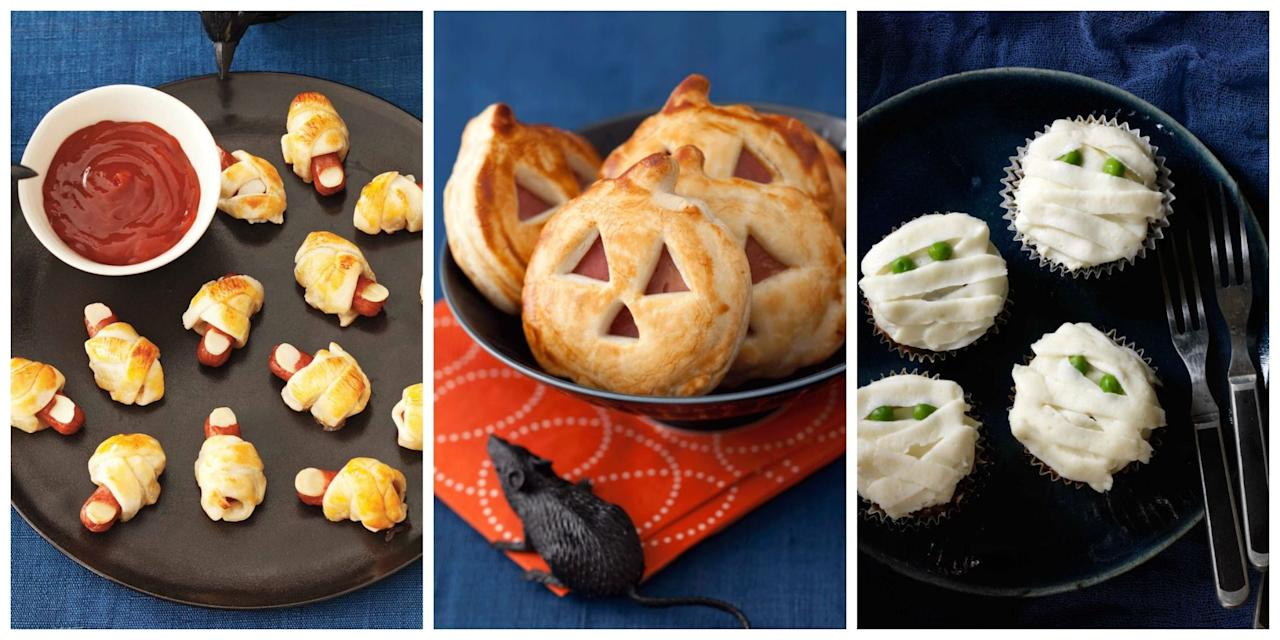 <p>Create a supernatural spread with these easy Halloween-themed finger foods.</p>