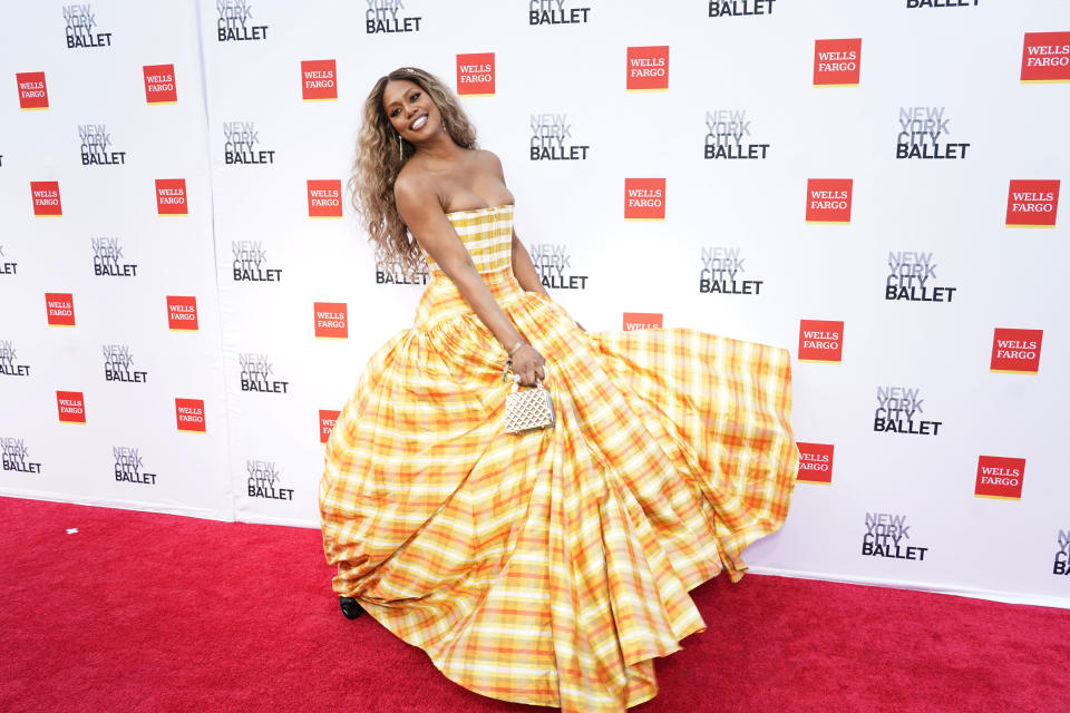 NEW YORK, NEW YORK - SEPTEMBER 30: Laverne Cox attends New York City Ballet's 2021 Fall Fashion Gala at Lincoln Center Plaza on September 30, 2021 in New York City. (Photo by Jared Siskin/Patrick McMullan via Getty Images)