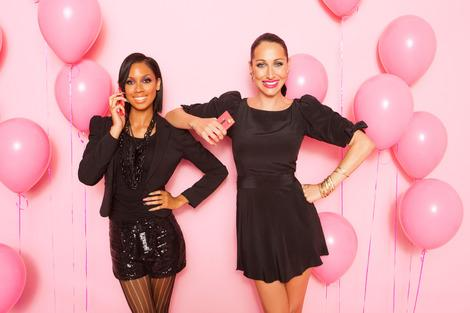 Celebrity Glam Squad Kandi Banks and Nikki Schwan for the Nokia Pink Lumia 900