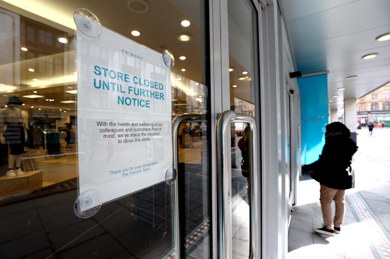 A Primark store in Nottingham after the company announced yesterday that they will be closing all UK stores to help limit the spread of coronavirus.