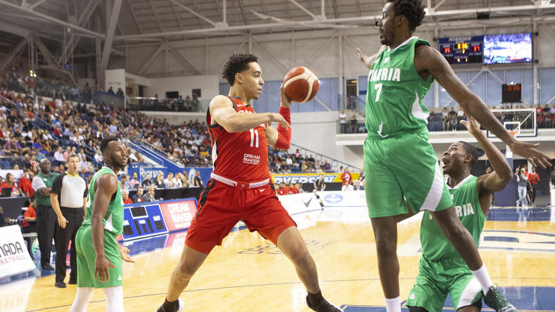 Nembhard looked good down the stretch for Canada. (THE CANADIAN PRESS/Chris Young)