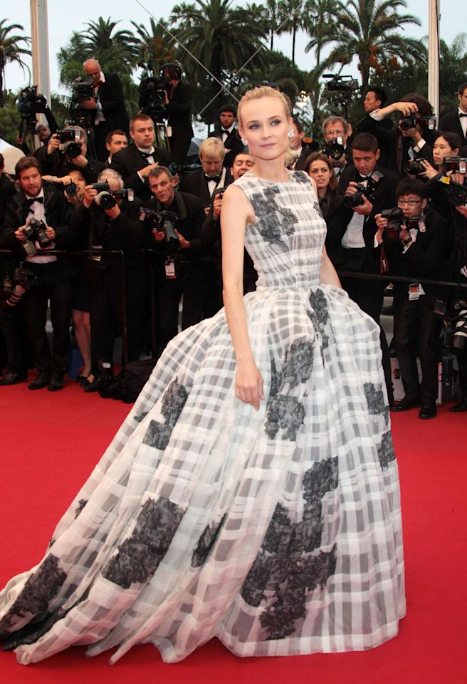 """CANNES, FRANCE - MAY 27:  Actress and Jury Member Diane Kruger attend the Closing Ceremony and the """"Therese Desqueyroux"""" Premiere during the 65th Annual Cannes Film Festival at Palais des Festivals on May 27, 2012 in Cannes, France.  (Photo by Vittorio Zunino Celotto/Getty Images)"""