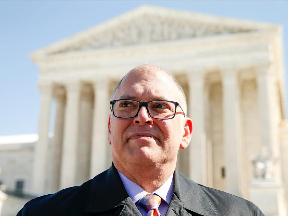 Jim Obergefell outside the Supreme Court in Washington in 2015.