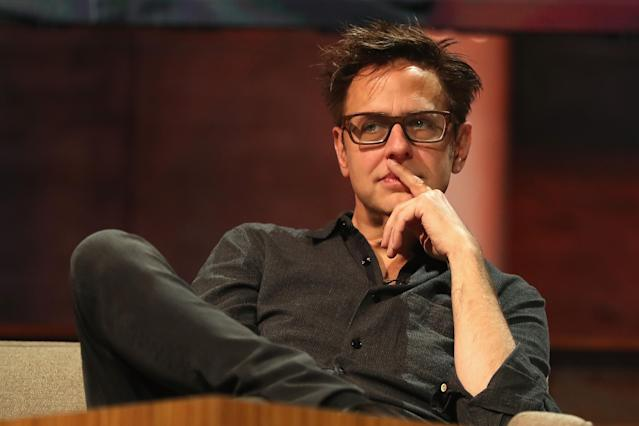 Director James Gunn at a discussion during the E3 Expo on June 13, 2017, in Los Angeles, Calif. (Christian Petersen/Getty Images)