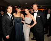 <p>Victoria Beckham and Katie Holmes met in 2007 and became closer when the Beckhams moved to Los Angeles. The pair were seen on numerous double dates with Katie and her then husband Tom Cruise. Following TomKat's split Katie's and Victoria's friendship began to fall apart. [GETTY] </p>