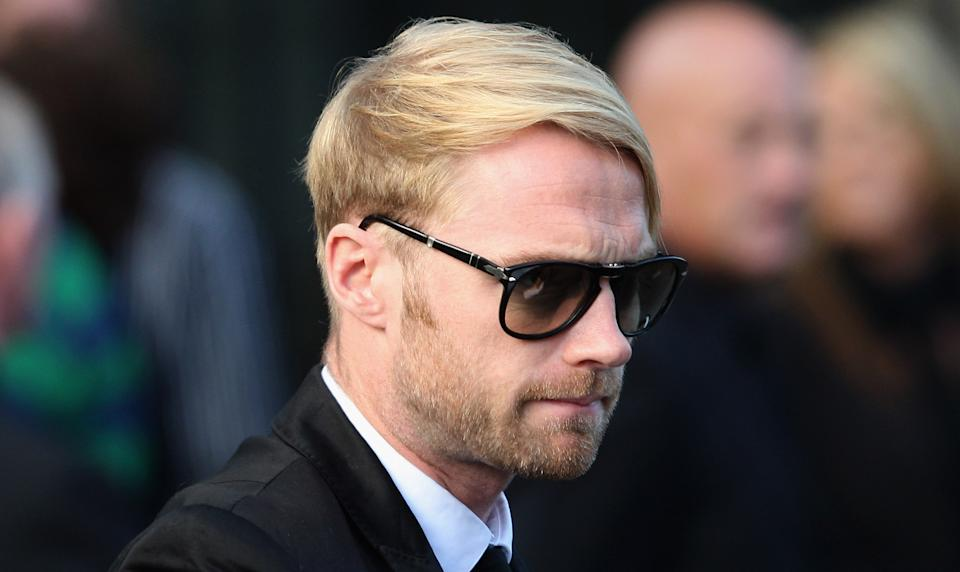 DUBLIN, IRELAND - OCTOBER 17:  Ronan Keating attends the funeral of Boyzone singer Stephen Gately at St Laurence O'Toole Church on October 17, 2009 in Dublin, Ireland. The Irish singer was found dead at his holiday home in Palma, Majorca last Saturday. A post-mortem has found the singer suffered a pulmonary oedema.  (Photo by Chris Jackson/Getty Images)