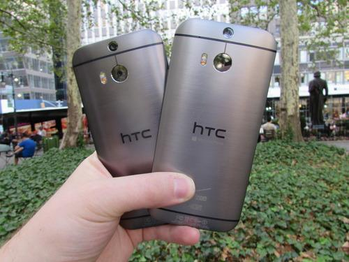 Backs of HTC One M8 and HTC One M8 for Windows