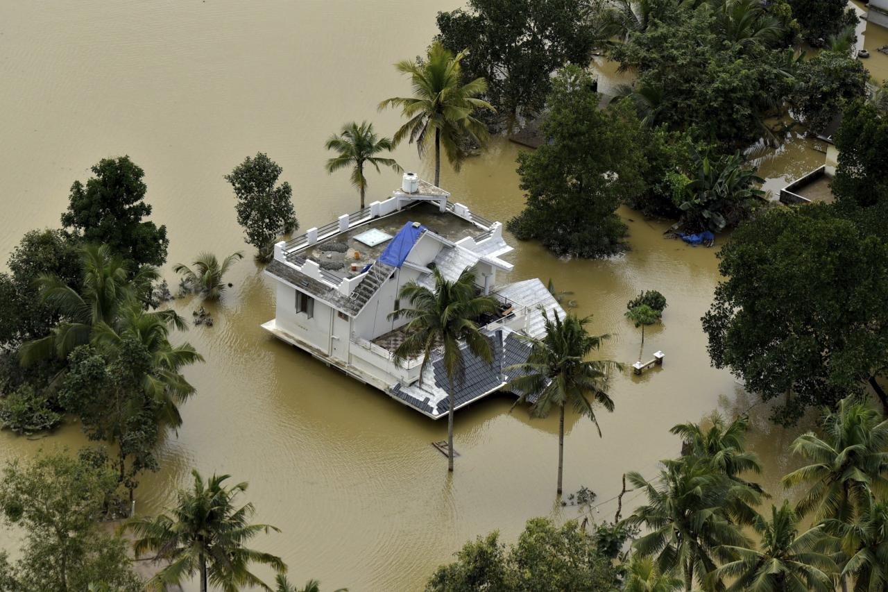 <p>A house is partially submerged in flood waters in Chengannur in the southern state of Kerala, India, Sunday, Aug.19, 2018. (AP Photo) </p>
