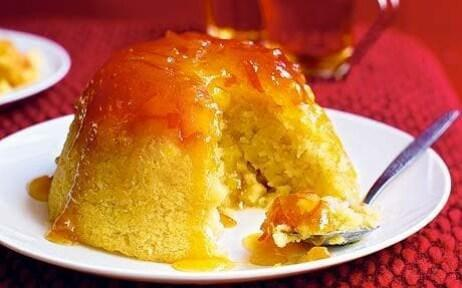 Steamed apple and marmalade sponge  - KATE WHITAKER