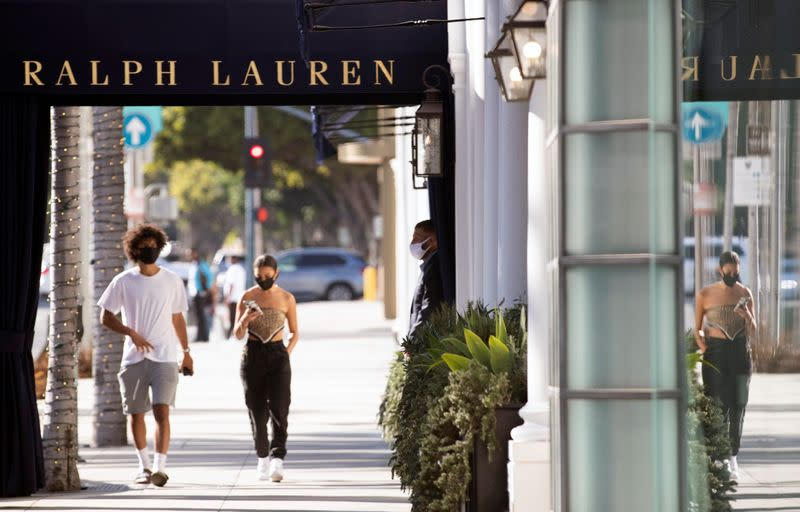FILE PHOTO: The outbreak of the coronavirus disease (COVID-19) in Beverly Hills