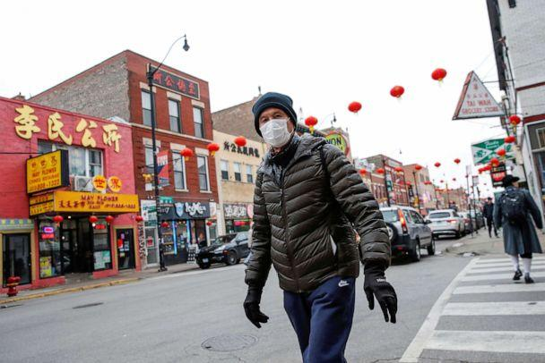 PHOTO: A man wears a masks in Chinatown following the outbreak of the novel coronavirus, in Chicago, Jan. 30, 2020. (Kamil Krzaczynski/Reuters, FILE)