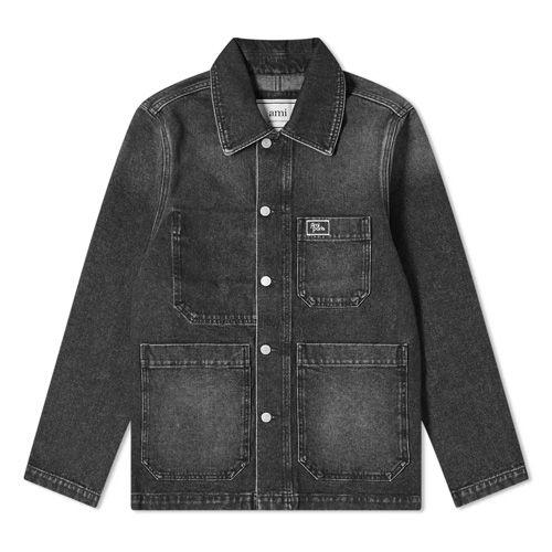 """<p><a class=""""body-btn-link"""" href=""""https://go.redirectingat.com?id=127X1599956&url=https%3A%2F%2Fwww.endclothing.com%2Fgb%2Fami-denim-worker-jacket-h20h-d427-611-031.html&sref=https%3A%2F%2Fwww.esquire.com%2Fuk%2Fstyle%2Fg34107878%2Fblack-denim-jacket%2F"""" target=""""_blank"""">SHOP</a></p><p>You don't have to go rooting around in mine shafts for <a href=""""https://www.esquire.com/uk/style/a32247684/best-workwear-brands/"""" target=""""_blank"""">great workwear</a>. Reinventing the workers jacket, Ami's is crafted from a soft, washed black denim with silver-tone hardwear at the front.</p><p>Used Black Denim Worker Jacket, £275, <a href=""""https://go.redirectingat.com?id=127X1599956&url=https%3A%2F%2Fwww.endclothing.com%2Fgb%2Fami-denim-worker-jacket-h20h-d427-611-031.html&sref=https%3A%2F%2Fwww.esquire.com%2Fuk%2Fstyle%2Fg34107878%2Fblack-denim-jacket%2F"""" target=""""_blank"""">endclothing.com</a></p>"""