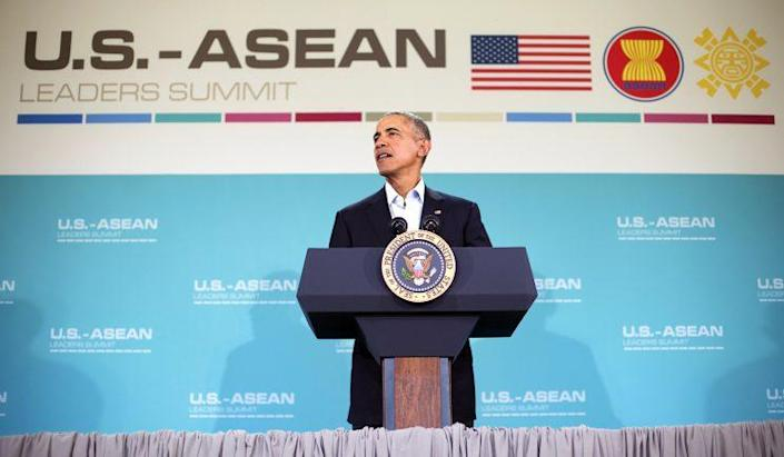 President Obama speaks at the U.S. Association of Southeast Asian Nations (ASEAN) leaders summit in Rancho Mirage, Calif., in February 2016. (Photo: Pablo Martinez Monsivais/AP)