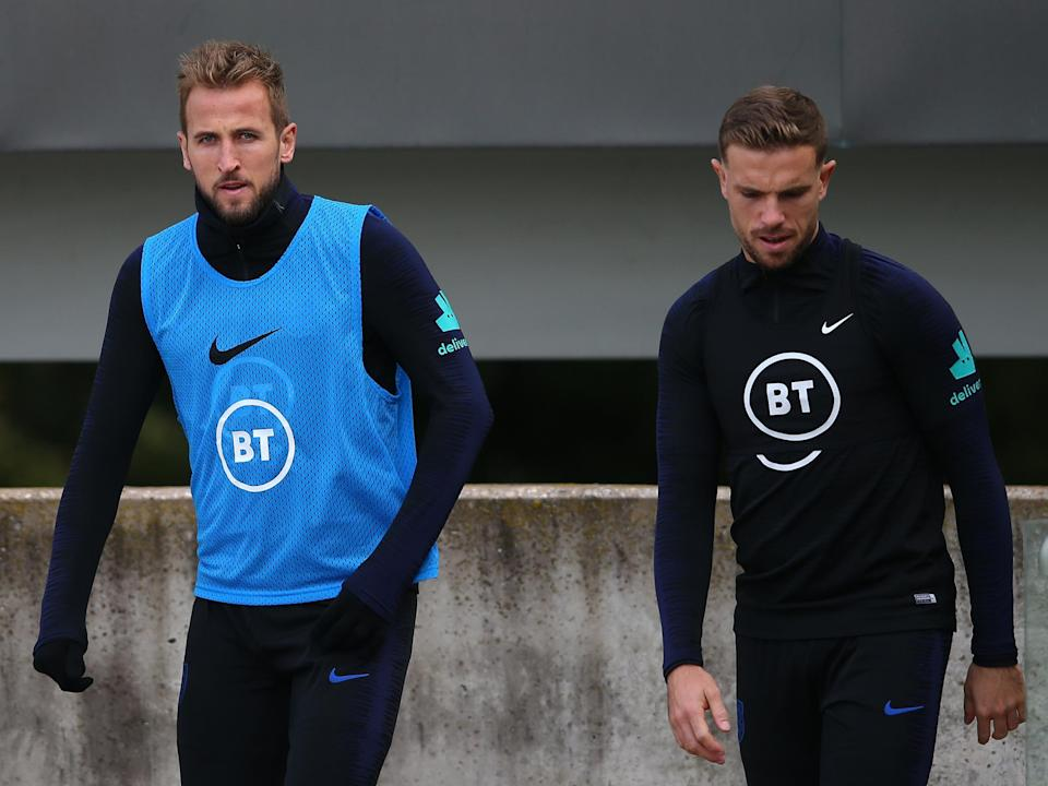 England captain and vice-captain Harry Kane and Jordan Henderson: Getty