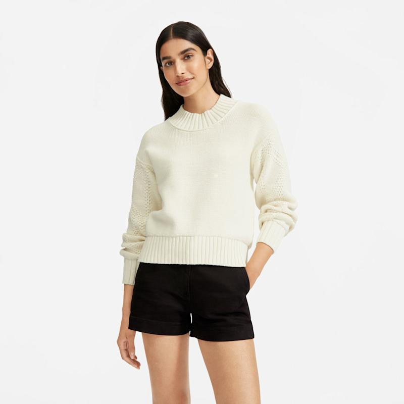 The Texture Cotton Cable Sweater