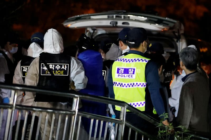 Search operation for Seoul Mayor Park Won-soon in Seoul