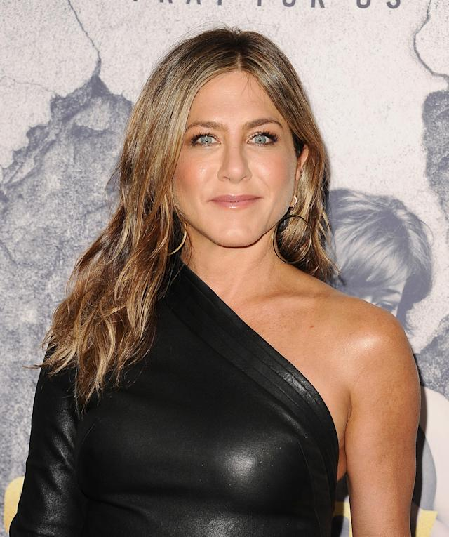 Jennifer Aniston, pictured in April 2017, has been snapped enjoying lots of girl time in the wake of her split from Justin Theroux. (Photo: Jason LaVeris/FilmMagic)