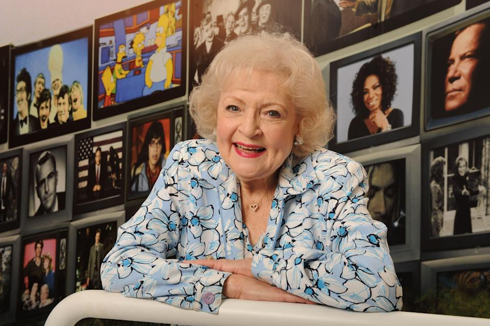 """<p>Betty White may have <a href=""""https://twitter.com/BettyMWhite/status/1350970400658829318?s=20"""" rel=""""nofollow noopener"""" target=""""_blank"""" data-ylk=""""slk:just turned 99 years old"""" class=""""link rapid-noclick-resp"""">just turned 99 years old</a>, but she seems to hold the secret to forever being young at heart. The pioneering comedian, animal rights activist, <a href=""""https://www.emmys.com/bios/betty-white"""" rel=""""nofollow noopener"""" target=""""_blank"""" data-ylk=""""slk:eight-time Emmy Award winning"""" class=""""link rapid-noclick-resp"""">eight-time Emmy Award winning</a> actress, and bestselling author's career spans more than 75 years in film and television. White has not only kept us entertained through her performances (thank you, <a href=""""https://www.oprahmag.com/entertainment/tv-movies/g23281531/golden-girls-gifts/"""" rel=""""nofollow noopener"""" target=""""_blank"""" data-ylk=""""slk:Golden Girls"""" class=""""link rapid-noclick-resp""""><em>Golden Girls</em></a> and <em>Hot in Cleveland,</em> to name a few)<em>, </em>but she's also shared wise, and often hilarious, advice on living a vibrant existence. Here, we gathered 20 of Betty White's wittiest quotes about life and love that'll make you adore her even more—and have you reaching for a shot of vodka and a hot dog—she jokes that <a href=""""https://www.wmagazine.com/story/betty-white-vodka-hot-dogs/"""" rel=""""nofollow noopener"""" target=""""_blank"""" data-ylk=""""slk:those are the keys"""" class=""""link rapid-noclick-resp"""">those are the keys</a> to longevity. <br></p>"""