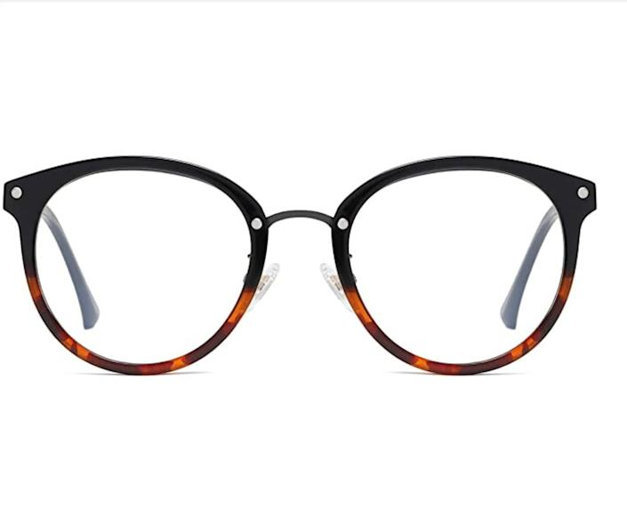 """These midcentury-inspired computer glasses come in eight colors and shapes. <a href=""""https://amzn.to/3fi9d2i"""" rel=""""nofollow noopener"""" target=""""_blank"""" data-ylk=""""slk:Get them for under $20 on Amazon"""" class=""""link rapid-noclick-resp"""">Get them for under $20 on Amazon</a>."""