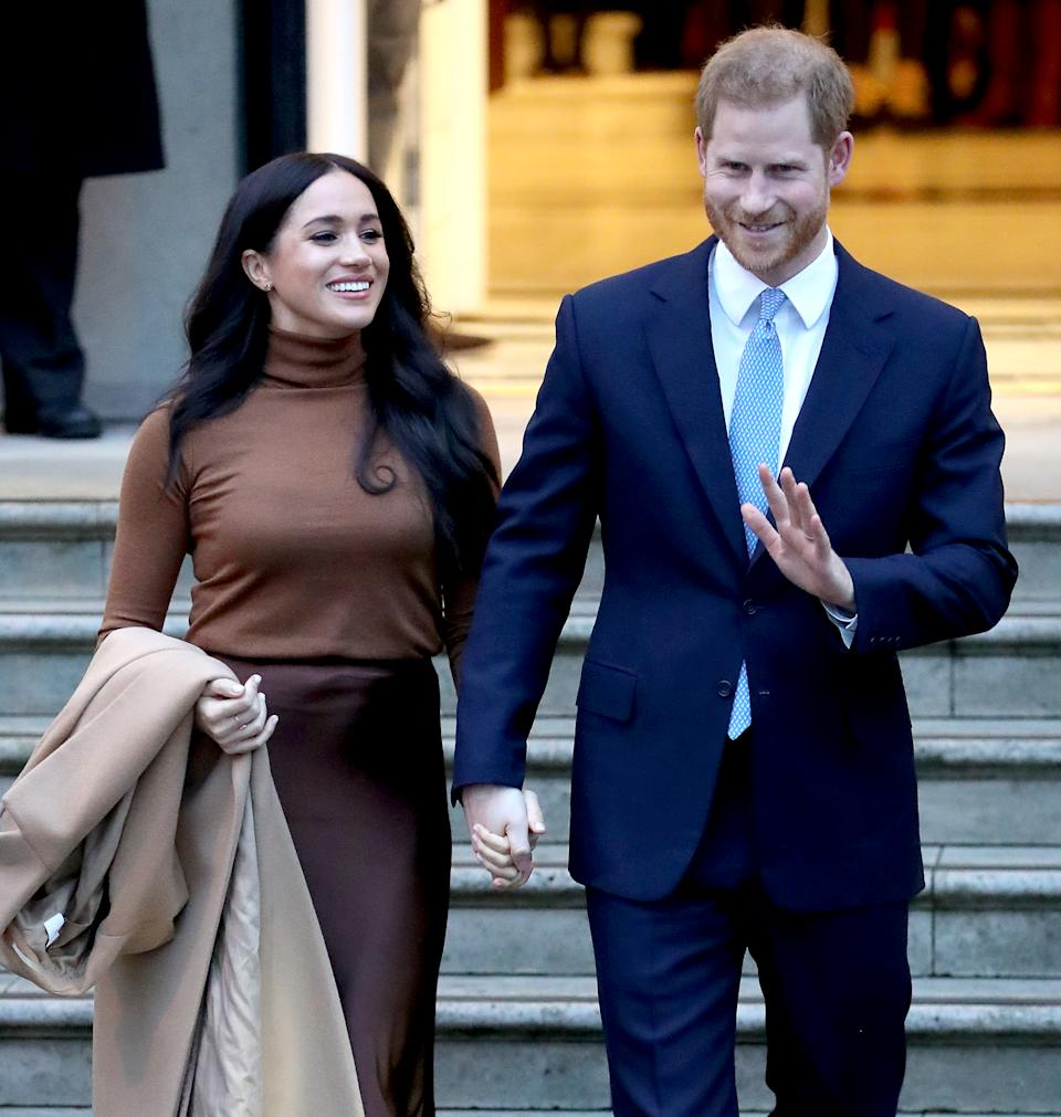 President Trump (not pictured) weighed in on Meghan Markle and Prince Harry's announcement to step back from their royal duties. (Photo by Chris Jackson/Getty Images)