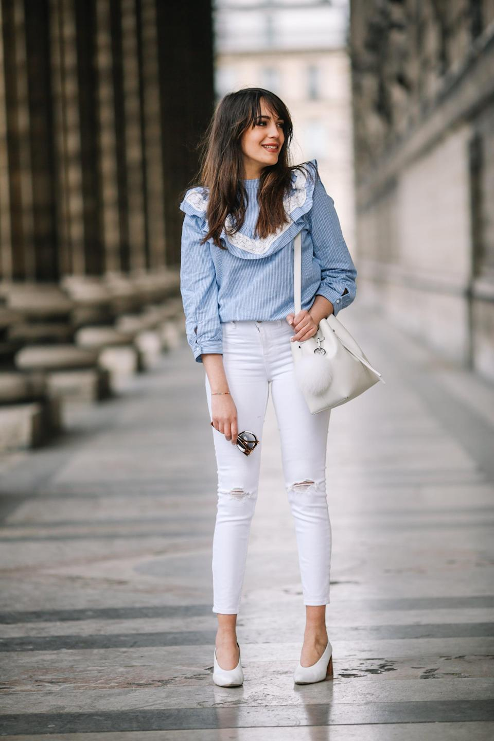 <p>Embrace white jeans - then embrace white shoes to pair with them. </p>