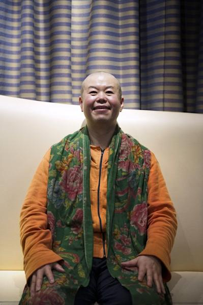 Chinese director Cui Zi'en pictured in Paris on February 9, 2013. Cui's 40-odd films have covered everything: from the only children produced by China's one-child policy imposed in the late 1970s, to the problems faced by millions of rural migrants who have flocked to the cities in search of work