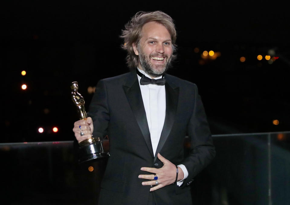 Florian Zeller won the Oscar for Best Adapted Screenplay for 'The Father', alongside co-writer Christopher Hampton. (Lewis Joly-Pool/Getty Images)