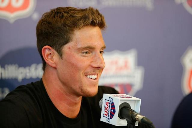 US Olympic swimmer Conor Dwyer has received a 20-month ban for doping after abitrators found he had testosterone pellets inserted in his body in 2018 (AFP Photo/Joe Scarnici)