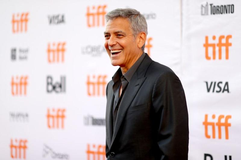 Has George Clooney fallen victim to a bad fake tan? Source: Getty